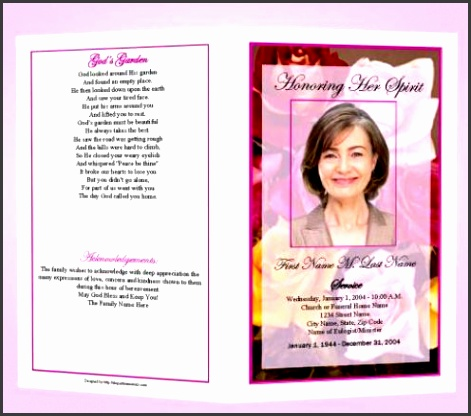 Microsoft Word  Free Funeral Program Templates Funeral Program Template  Free Funeral Program Template Microsoft Word