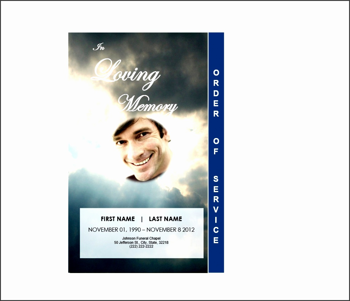 funeral program template word