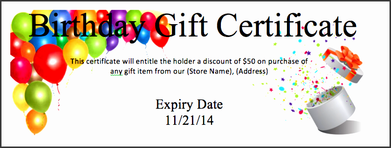 Birthday Coupon Template  Microsoft Word Coupon