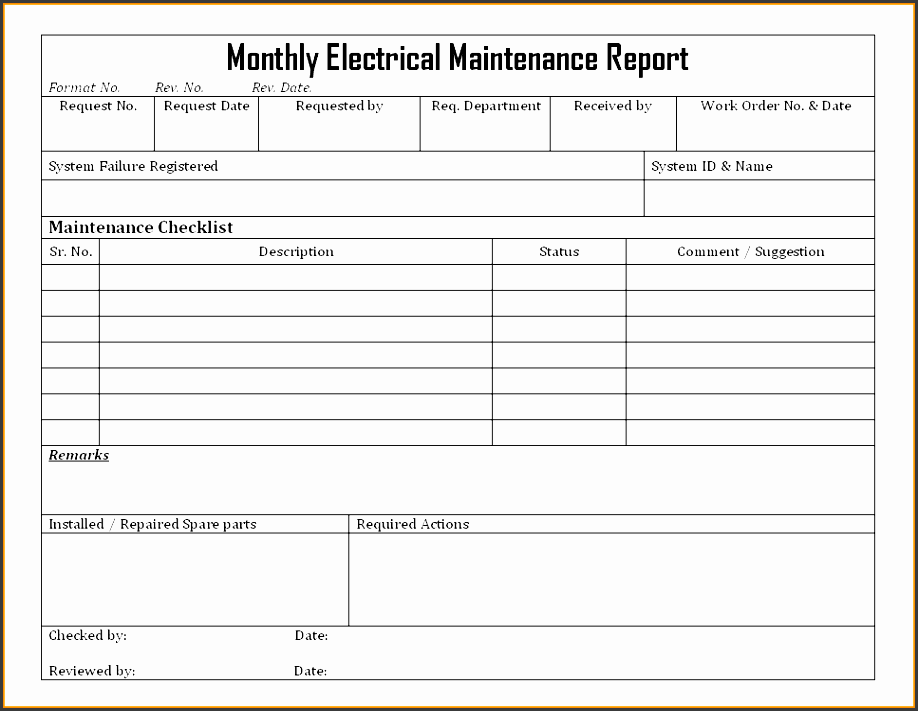 Monthly Report Template Microsoft - Oloschurchtp.com