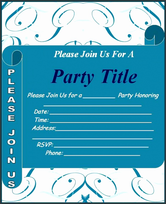 10 Ms Word Birthday Party Invitation Template