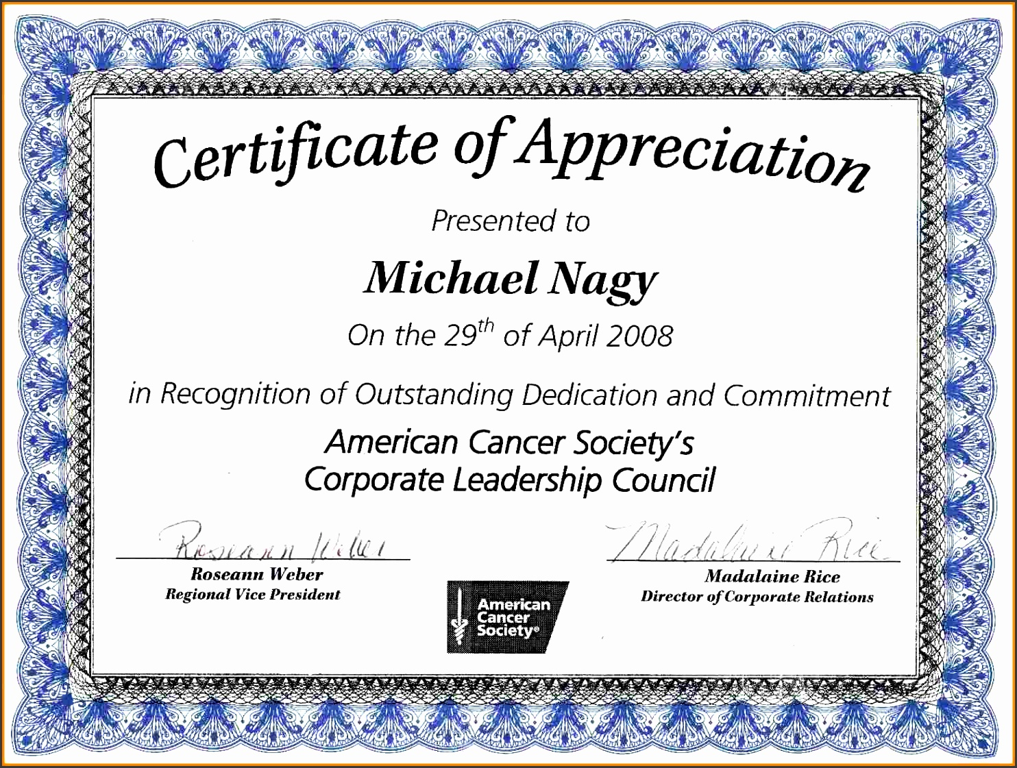 9 ms word certificate of appreciation template