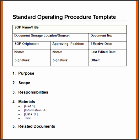 14 standard operating procedures templates authorizationletters