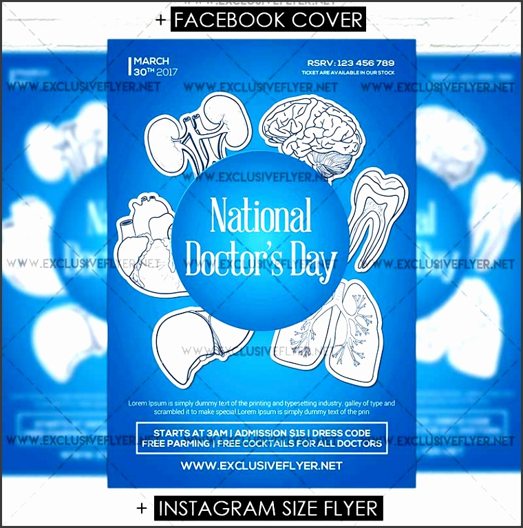 national doctors day vol2 premium flyer template lusiveflyer