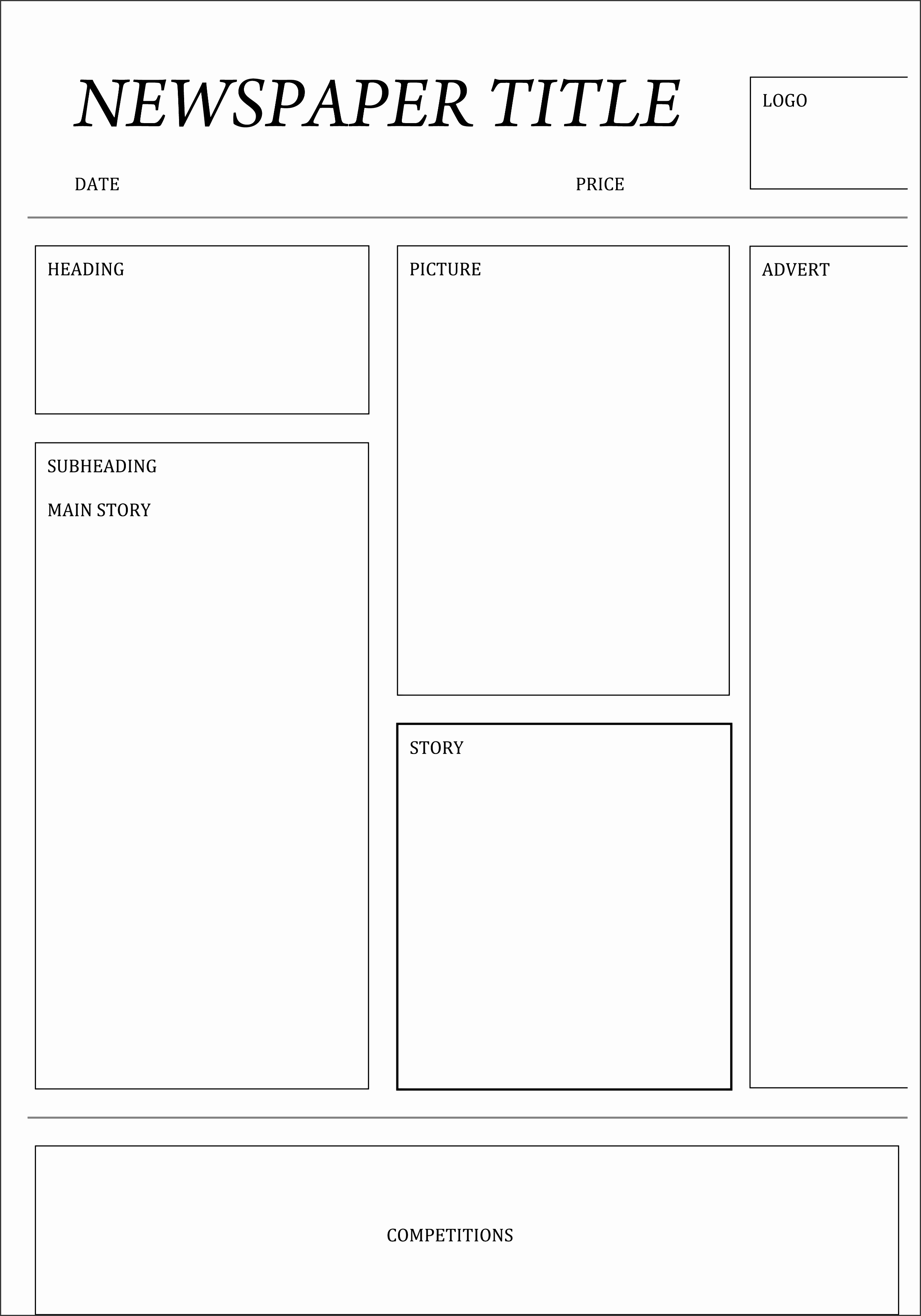 9 newspaper template for free sampletemplatess sampletemplatess. Black Bedroom Furniture Sets. Home Design Ideas