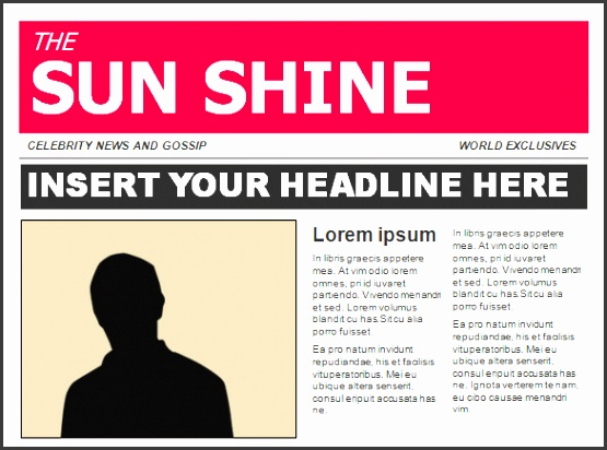 the sun newspaper template muco tadkanews co
