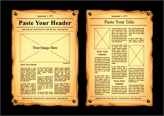 old newspaper vector templates