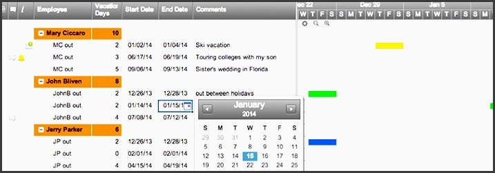 team vacation planner