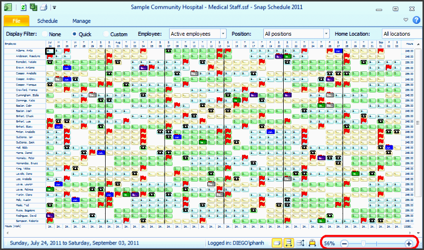 employee shift scheduling template