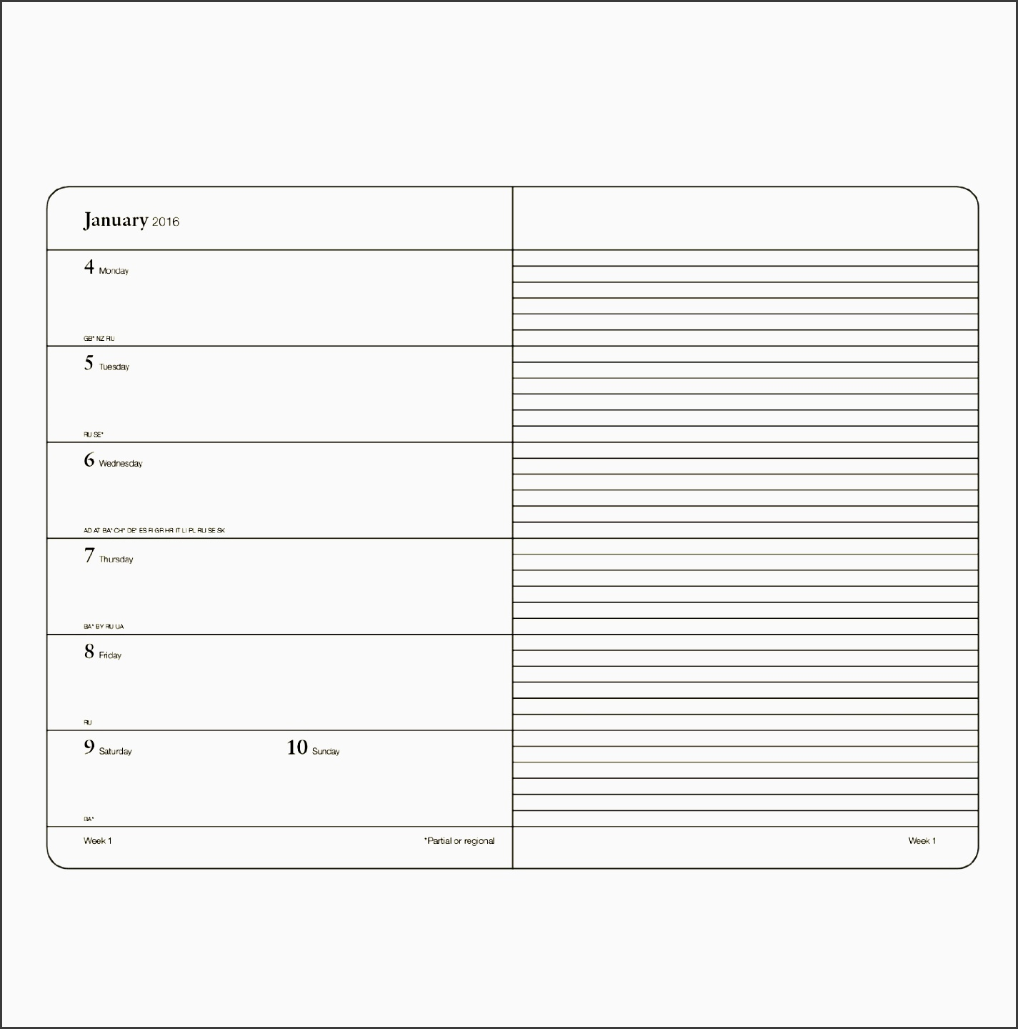 weekly planner and notebook format by leuchtturm1917