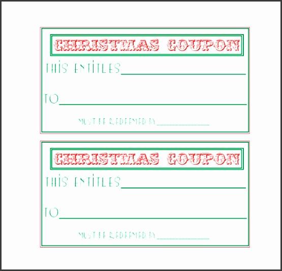 easy to print homemade christmas coupon template