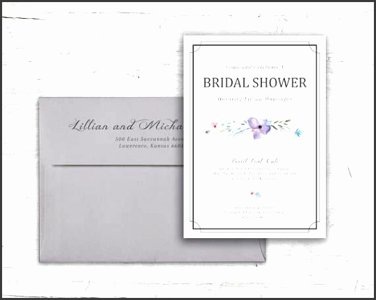 springtime floral design bridal shower invitation