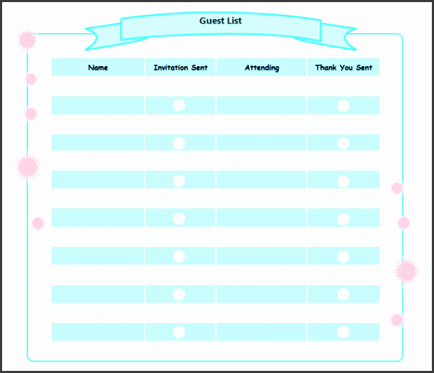 8 party guest list maker sampletemplatess sampletemplatess birthday party guest list stopboris Image collections