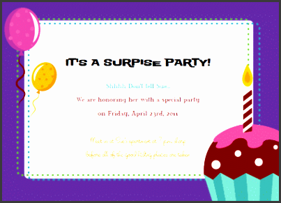template for party invitation