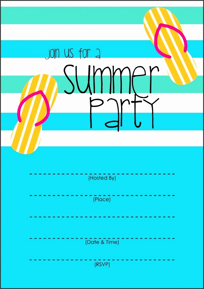 summer party invitation free printable