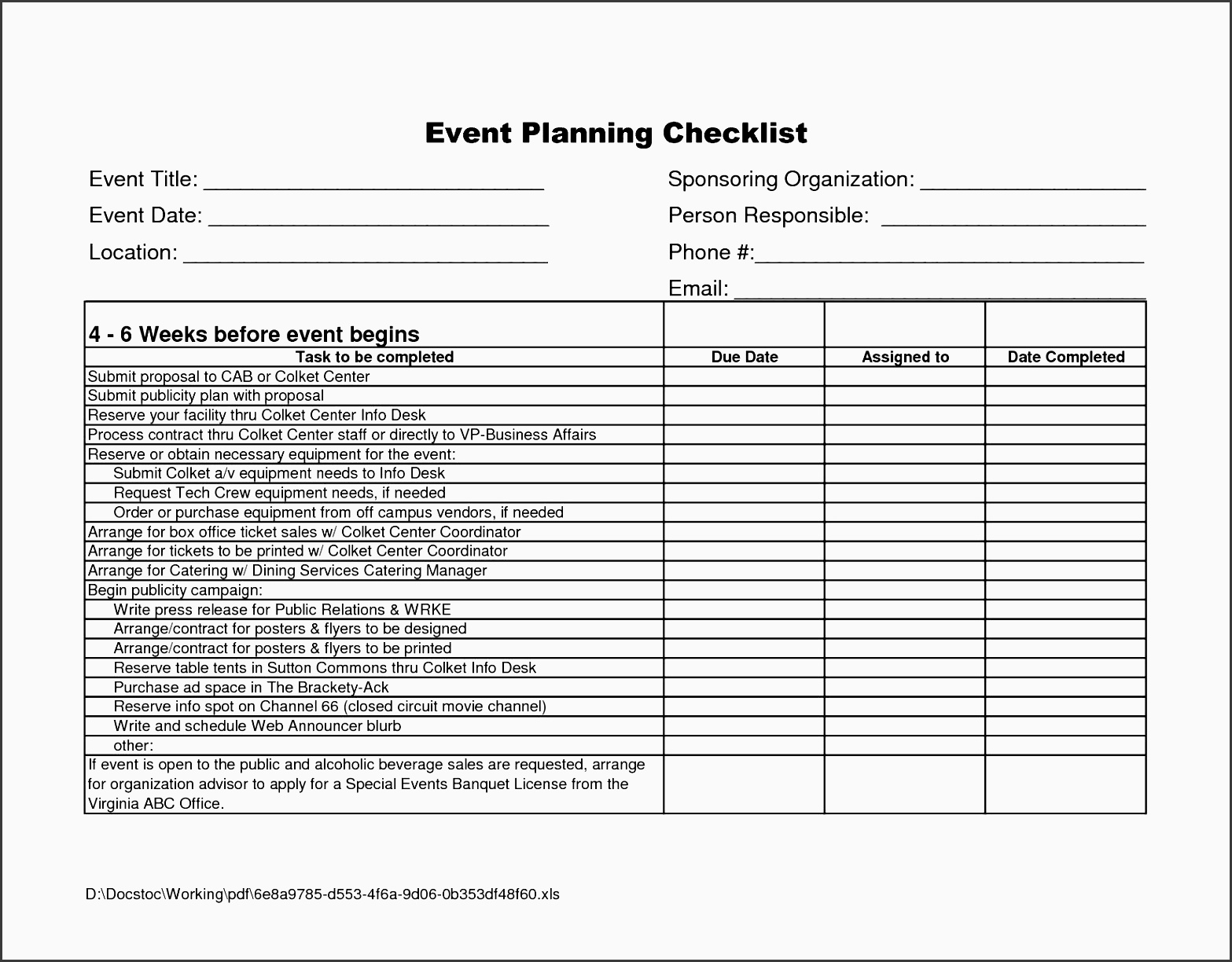 9 Party Planning Checklist Sample - SampleTemplatess - SampleTemplatess