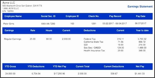10 pay stub format - sampletemplatess