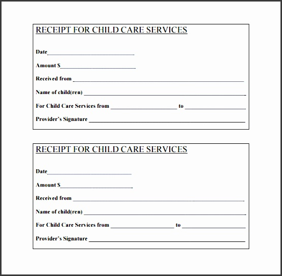 day care services receipt pdf