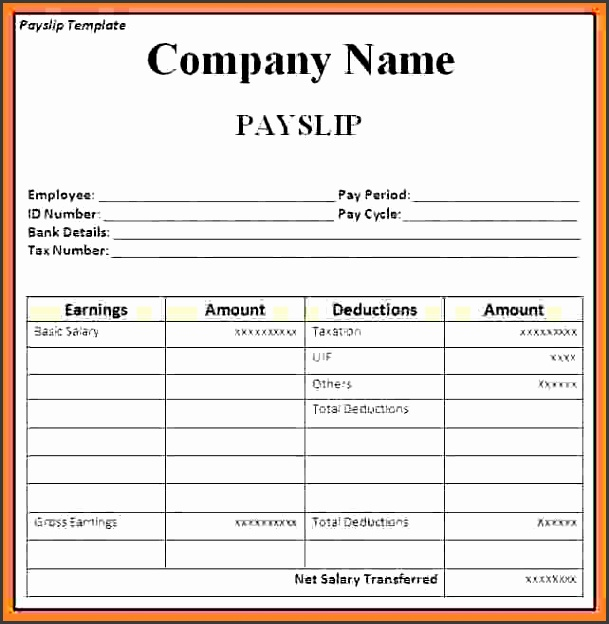 Template Of A Payslip Employee Payslip Template For Ms Excel Excel