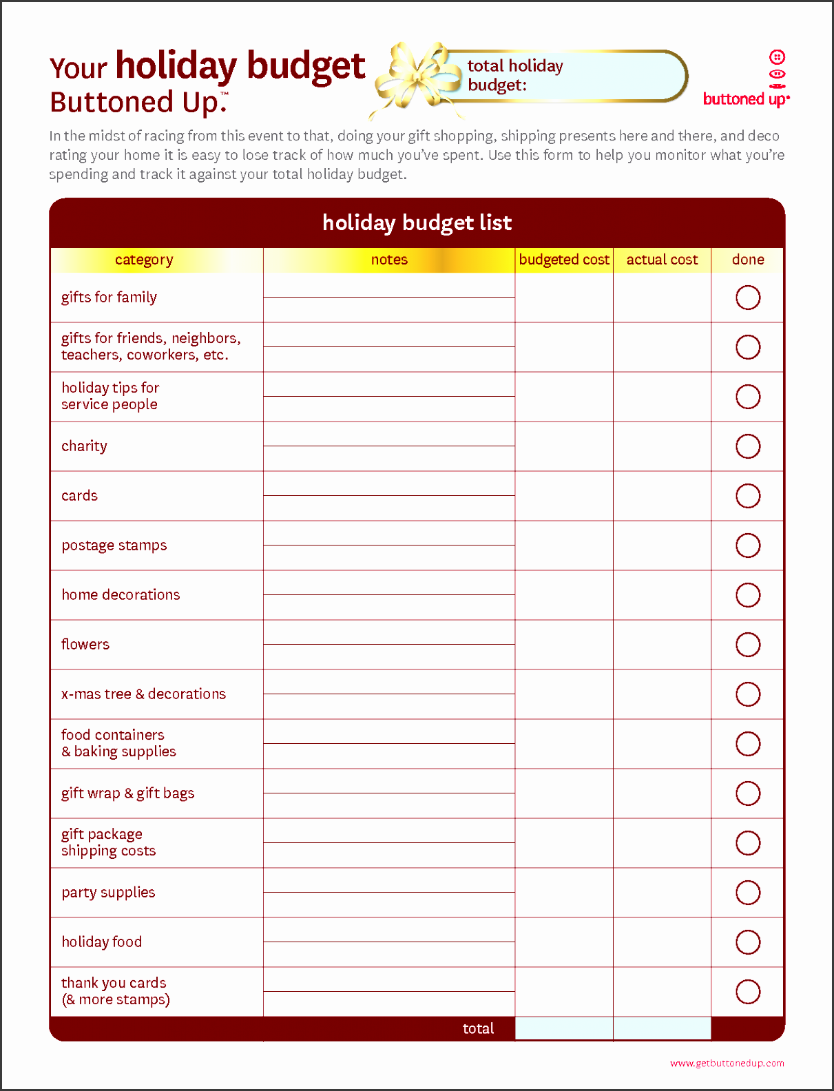 free printable personal bud worksheet free printable holiday organization bud form template pdf