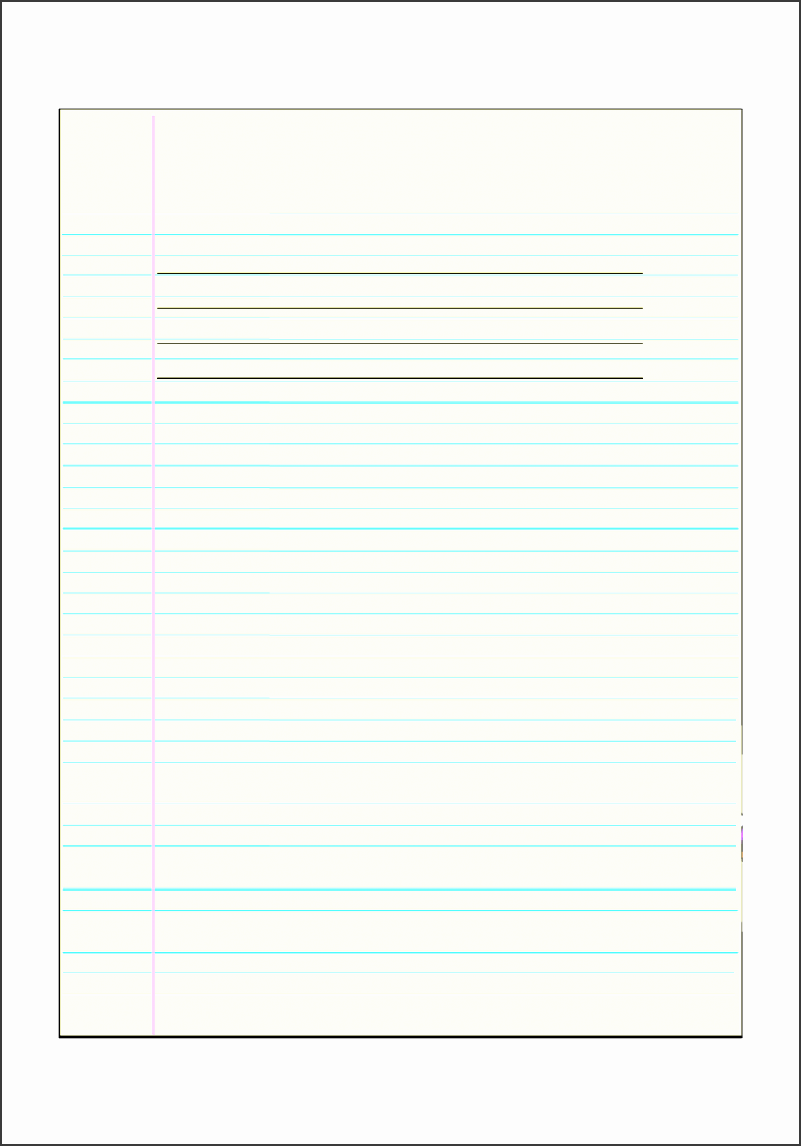 6 personal fax cover sheet template