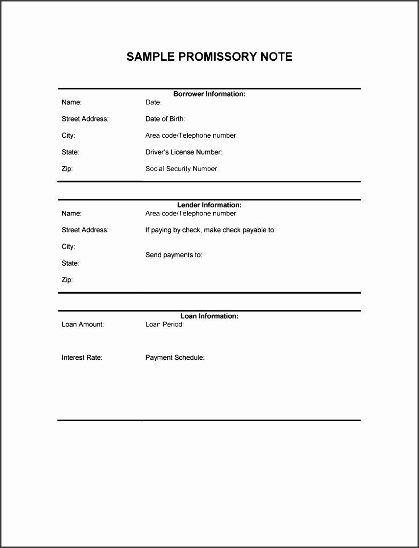 free promissory note template for personal loan best template idea 45 free promissory note templates forms