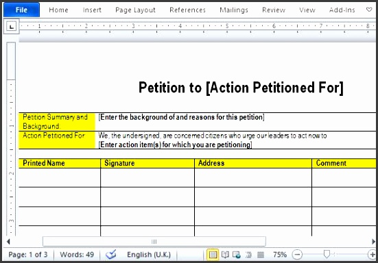 petition sign up sheet template - 6 petition format sampletemplatess sampletemplatess