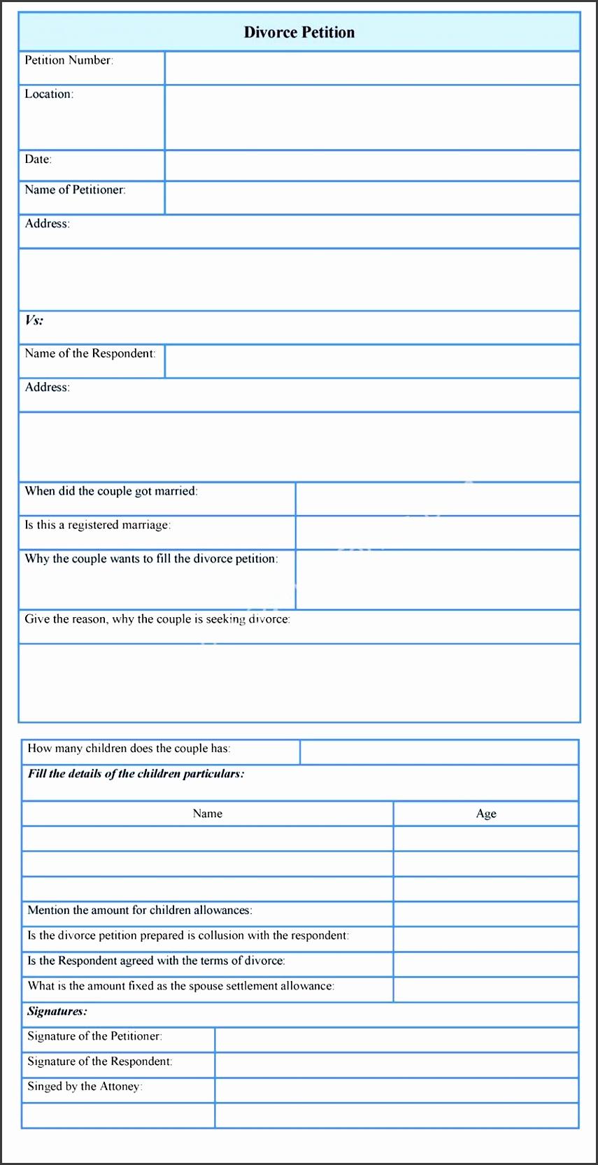 9 petition sample - sampletemplatess