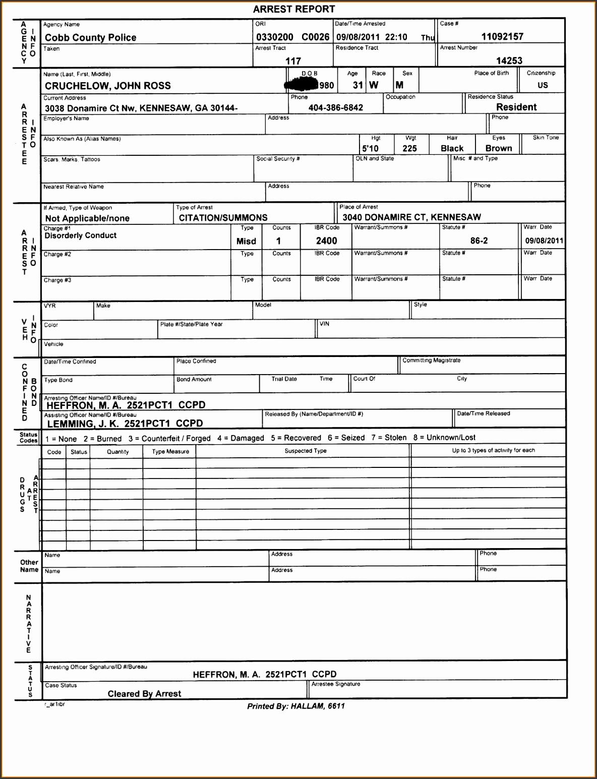 6 police report template online sampletemplatess sampletemplatess. Black Bedroom Furniture Sets. Home Design Ideas
