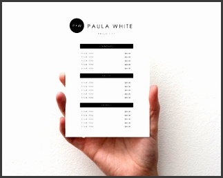 price list template able price list printable marketing materials template design