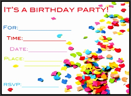 free birthday card invitation templates birthday invite cards free printable printable cards template
