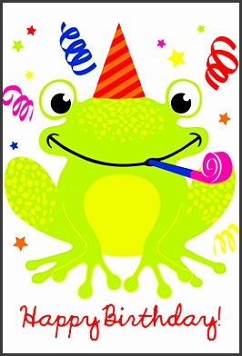 happy birthday cards printable a happy hopping frog pleting with simple and elegant stunning model adding