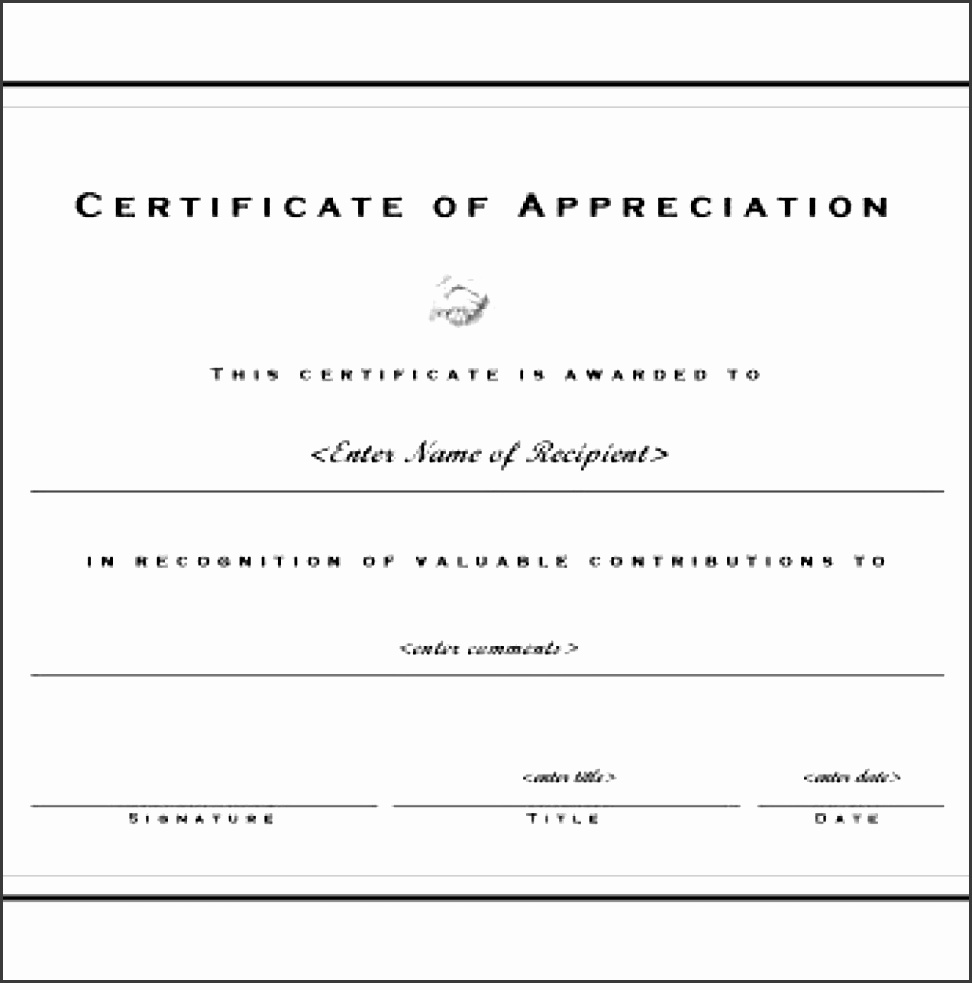8 printable certificate of appreciation template for Template for certificate of appreciation in microsoft word