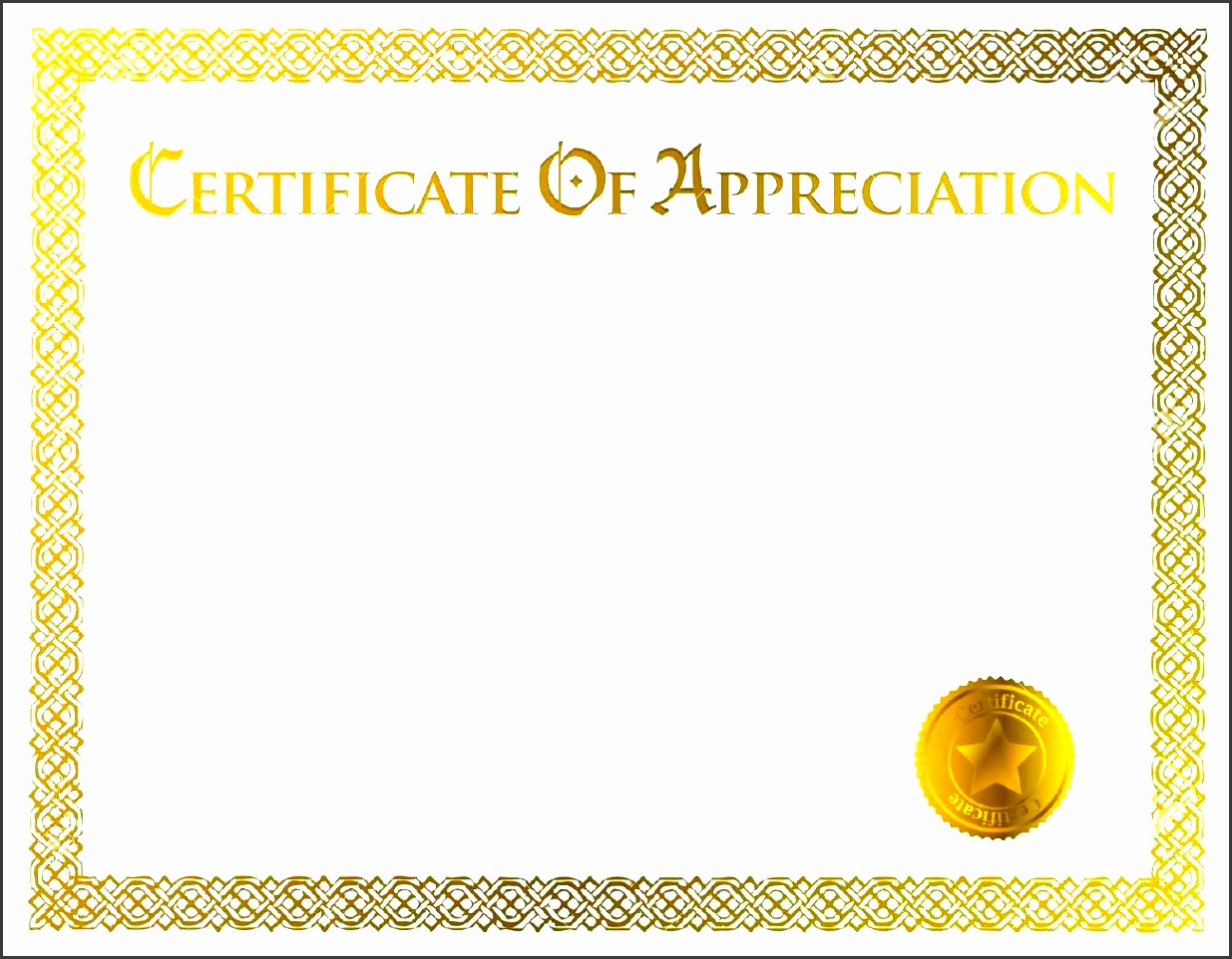 8 printable certificate of appreciation template blank certificate of appreciation templates 1betcityfo Image collections