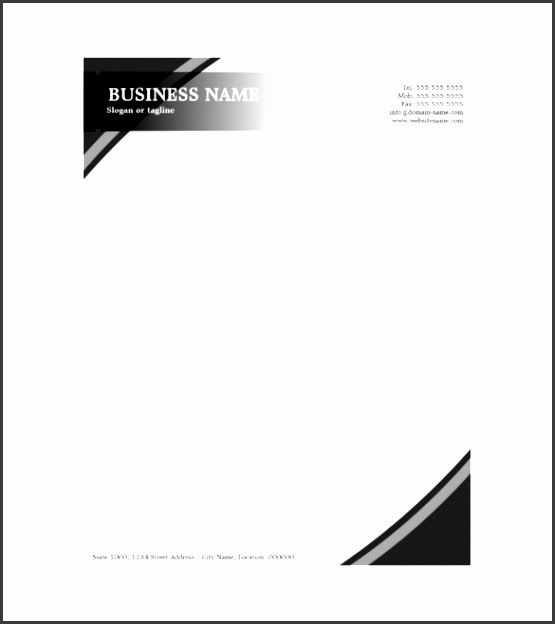 Company paper template demirediffusion 6 printable company letterhead template sampletemplatess flashek Images