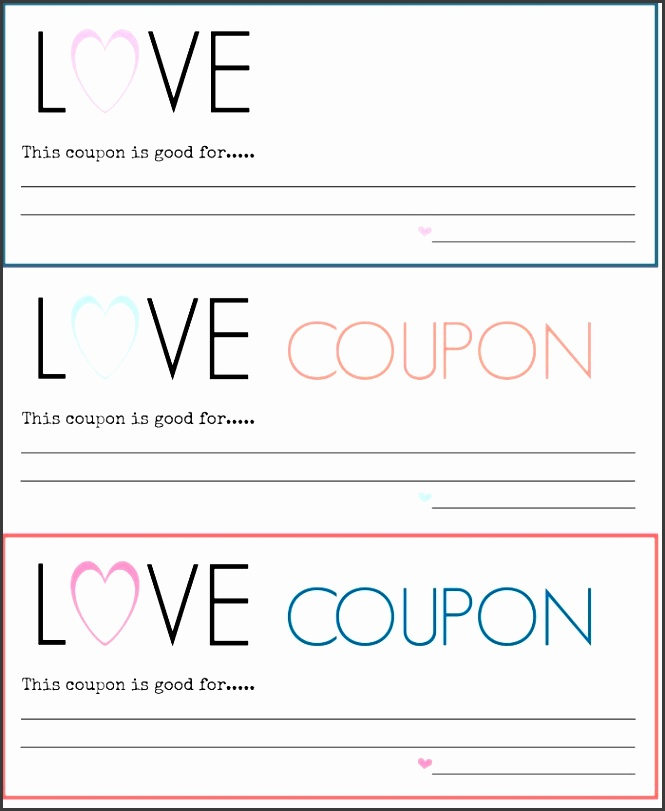 4  Printable Coupon Template