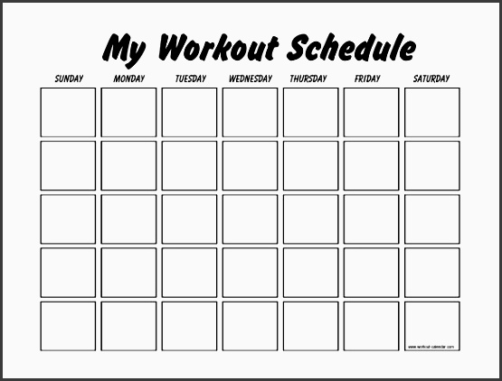 Exercise Schedule Planner  ToreTrackboxCo