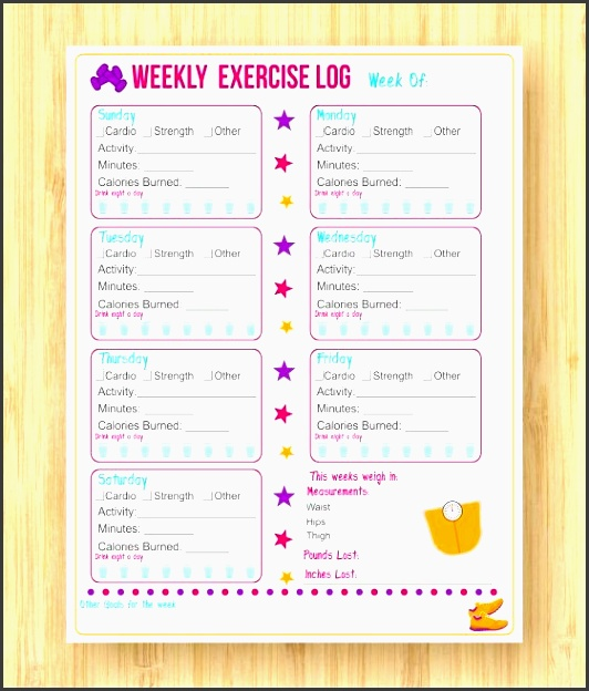 9 printable exercise planner