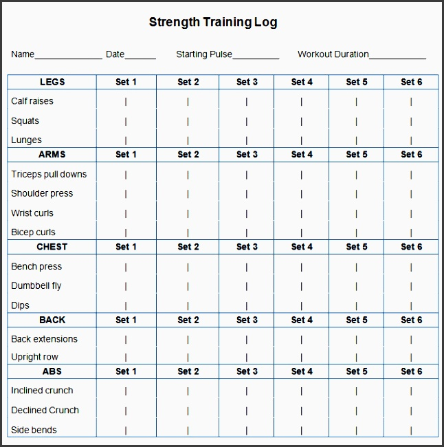 workout schedule template 10 free word excel pdf format