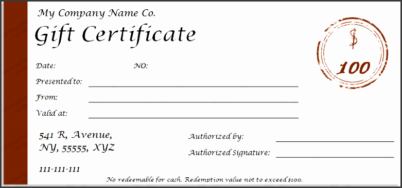Printable Gift Certificate Template SampleTemplatess - Downloadable gift certificate template