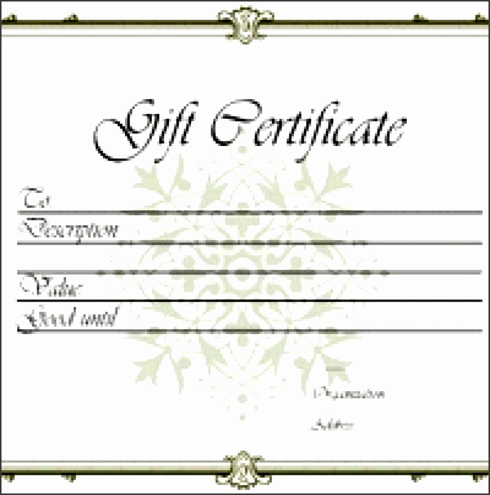 9 printable gift certificate template sampletemplatess for Printable gift certificate template