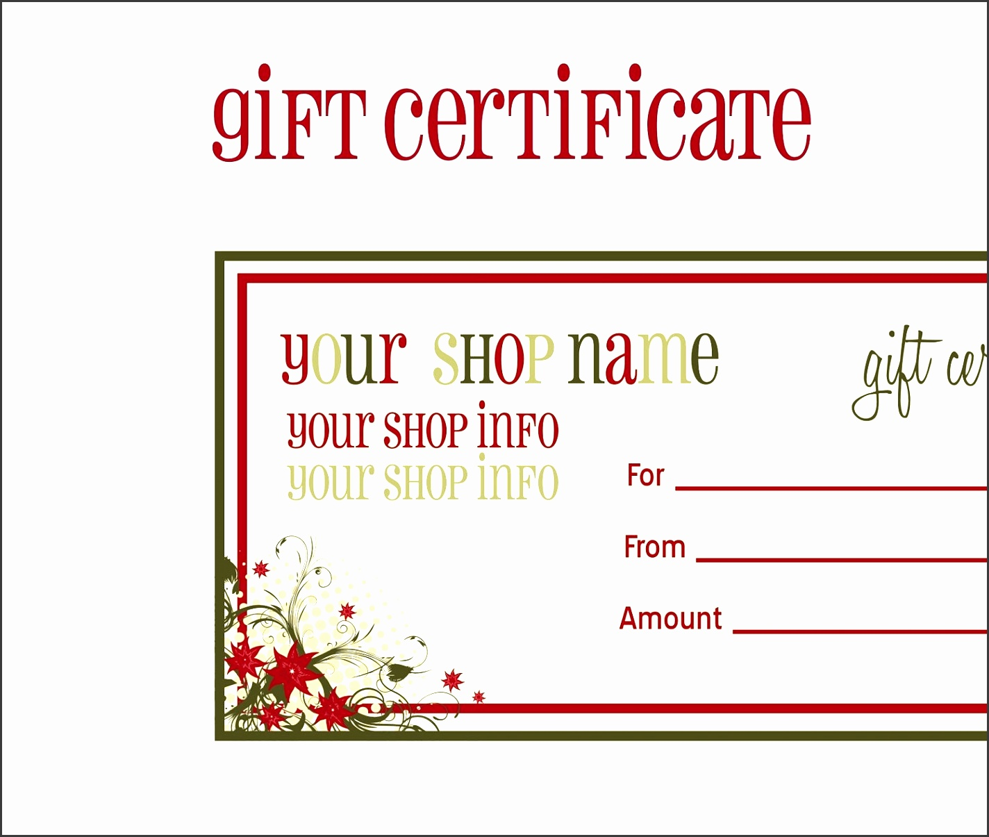 9 printable gift voucher template sampletemplatess sampletemplatess. Black Bedroom Furniture Sets. Home Design Ideas