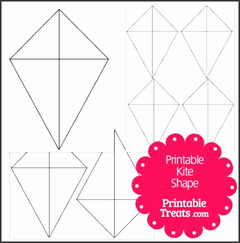 printable kite shape template
