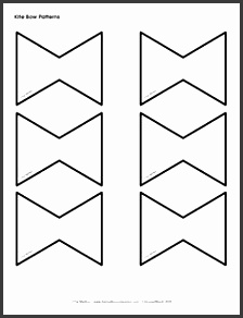 printable kite pattern template the