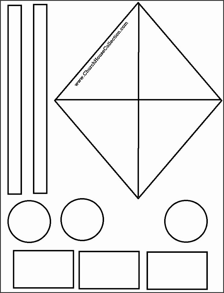 kite cutout craft for sunday school kids james 4 10 free printable template pattern