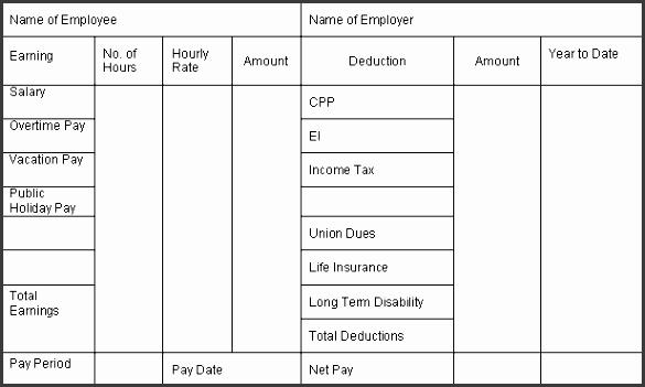 7 printable pay stub template