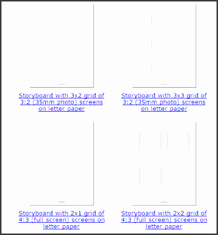 60 printable storyboard template