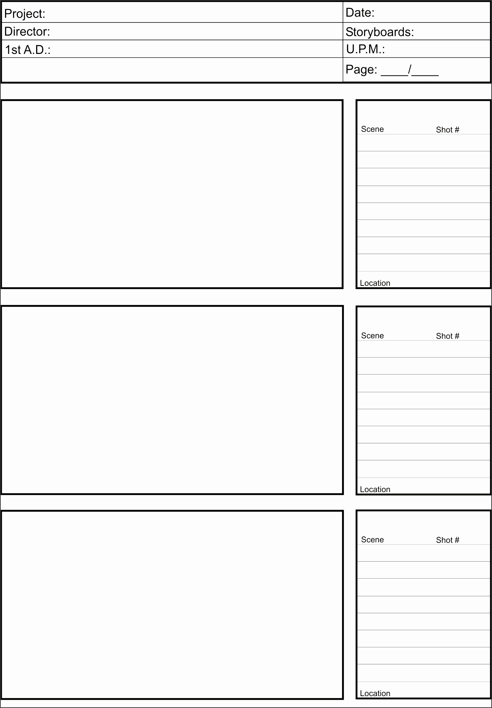 printable storyboard templates word layouts share your creative vision with your crew using this free storyboard template