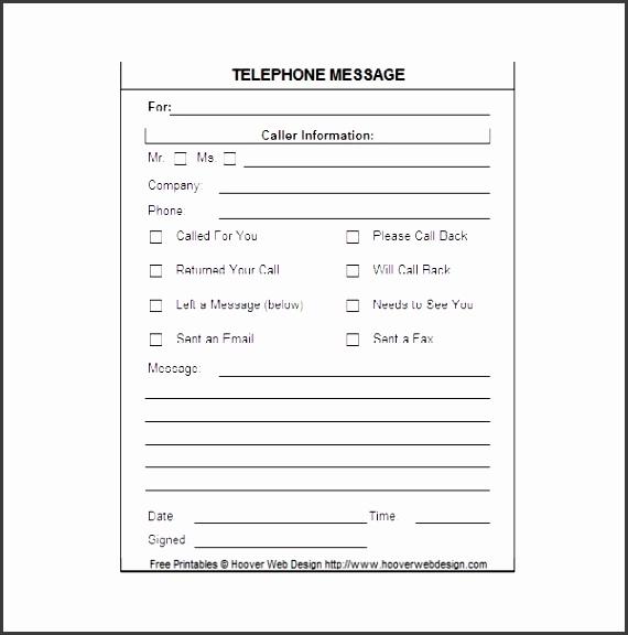 5 printable telephone message template - sampletemplatess