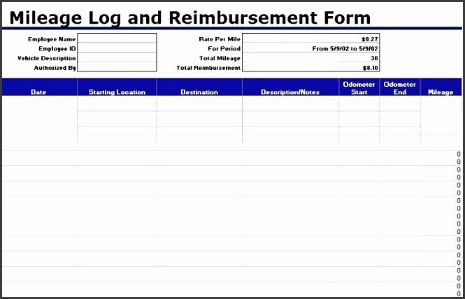 printable mileage log template 22